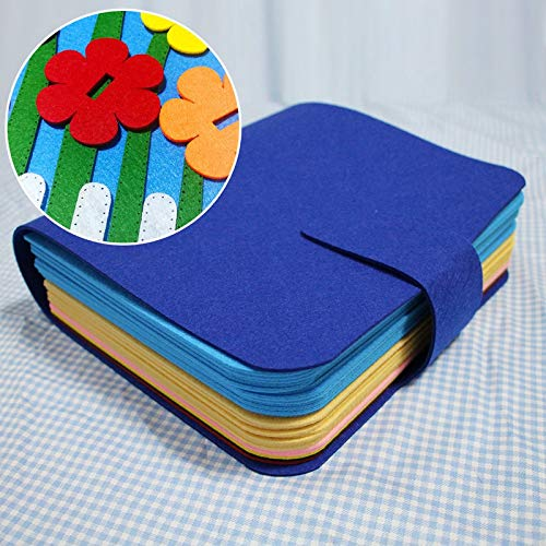 Handmade Baby Book Felt Handmade My First Book Kid's Early Education Book Mom Sewing Quiet Book Baby Toy Felt Picture Book Craft Kit by X-CRAFT