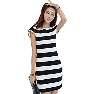 e47c525c466b9 FUZHUANGHM Casual Korean Plus Size Dress Sexy Cut Out Backless Bow ...