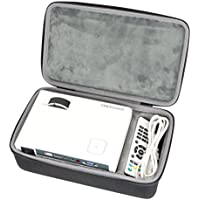 Hard Travel Case for DBPOWER RD-810 1200 Lumens LED Portable Projector Multimedia Home Theater Video Projector Supporting 1080P by co2CREA