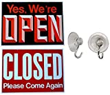 1 Pc Terrific Popular Open Closed Hanging Sign Double Signs Window Message Plastic Decal Size 13
