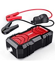 SANROCK Portable Car Battery Jump Starter 2500A 22800mAh (up to 8.0L Gas or 8.0L Diesel) with USB Qick Charge, in&Out Type-C, 12V Auto Portable Power Pack Battery Booster Built-in LED Light