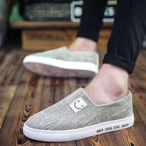 Espadrillas tendenza basse Size da Gray Estate sera scarpe traspirante scarpe coreano di uomo 40 YaNanHome scarpe tela pigri moda scarpe Color Scarpe da casual stile Black dAwdq6