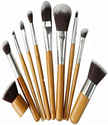 Bamboo King - Juego de pinceles cosméticos (100% madera de bambú)