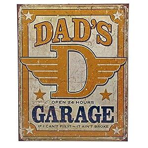 Garage Dad/'s Garage Retro metal Sign vintage man cave
