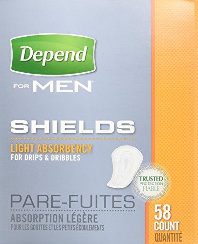 Depend Men Sheilds Light Absorbency 58 CT (Pack of 9)