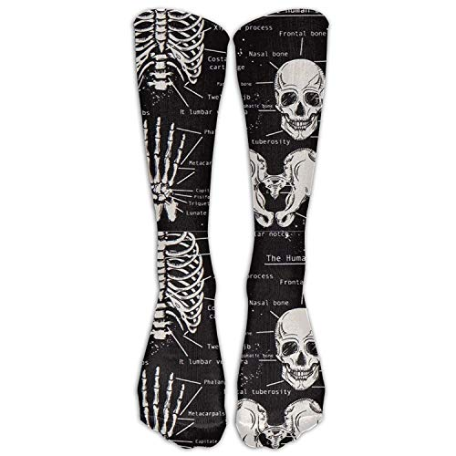 Price comparison product image Dark Skeleton Anatomy Compression Socks For Women & Men
