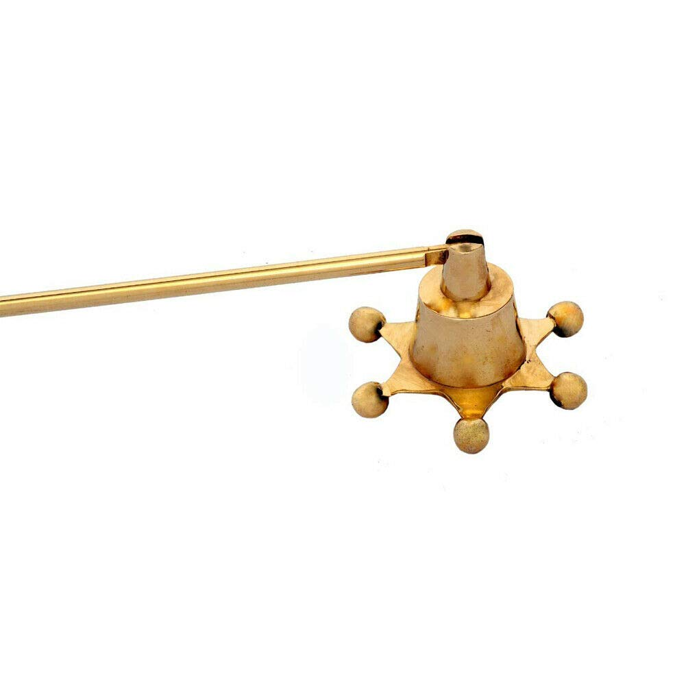 Long Handle Candle Fire Extinguisher NEEZ Candle Snuffer Made with Solid Brass Star Shape Snuffer Candle Accessories -