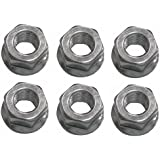 Flanged Bar Nuts 6 Pack Replaces Husqvarna