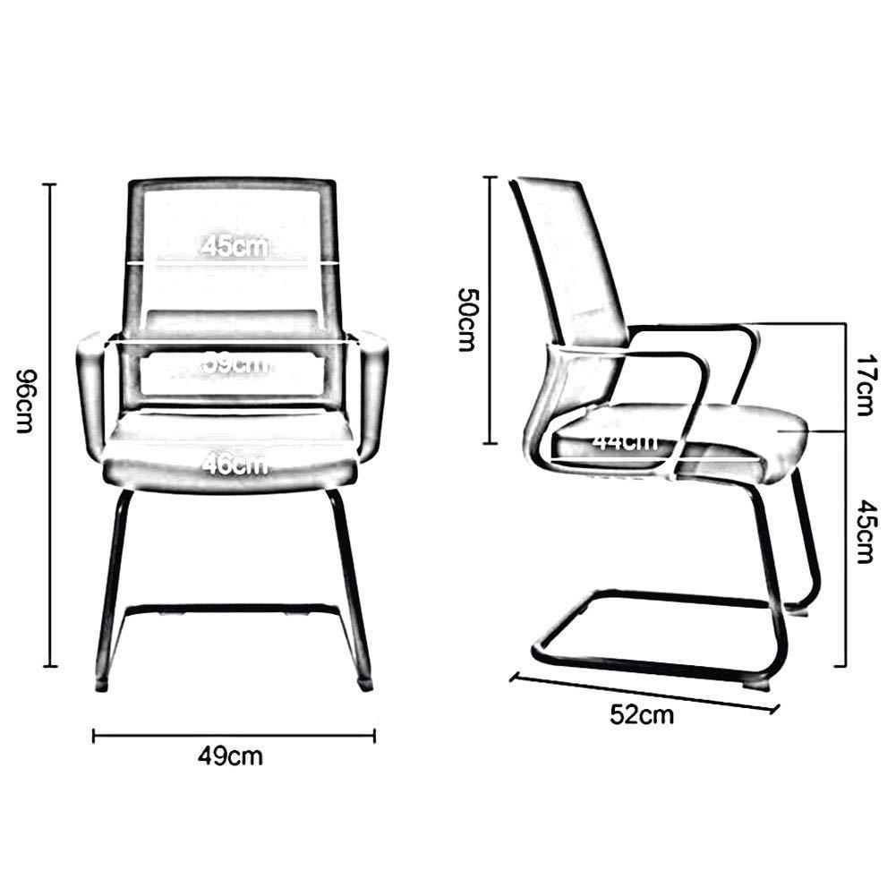 DBL andningsbar stålbas ergonomisk skrivbord bekväm upplevelse utmärkt elasticitet komfort modernt utseende stål skrivbordsstolar (färg: grå) gUL