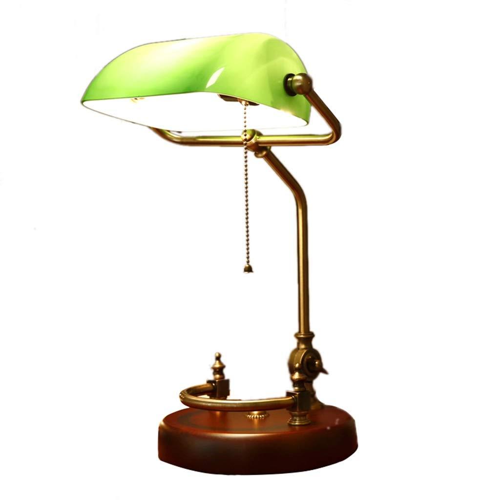 AODISHA-1 電気スタンド、銀行家のテーブルランプのレトロな純木の検討ライトワークテーブルランプの緑のガラステーブルランプ26 * 26 * 40CM - 家庭の明るさを与える (サイズ さいず : 26*26*40CM) 26*26*40CM  B07RT18V2W