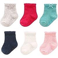 Carter's Baby Girls' Socks, Pack of 6
