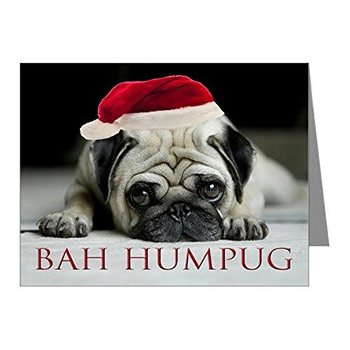 CafePress - Pug Christmas Cards (Pk of 10) - Blank Note Cards (Pk of 10) Matte