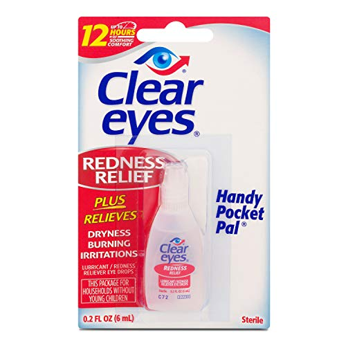 Clear Eyes Hand Pocket Pal Redness Relief Eye Drops, 0.2 Fl Oz