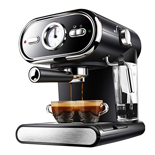 Máquina de espresso, Cafetera Espresso Steam & Pump 20 bar de presión/Termómetro observable/1 litros/1000 vatios/Espuma…