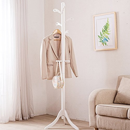 LQQGXLModern minimalist coat rack, Simple solid wood coat rack floor home bedroom hanger creative storage rack (Color : 3#) by LQQGXL