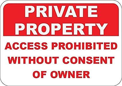 Amazon.com: Acceso de Propiedad Privada Prohibido Sin ...