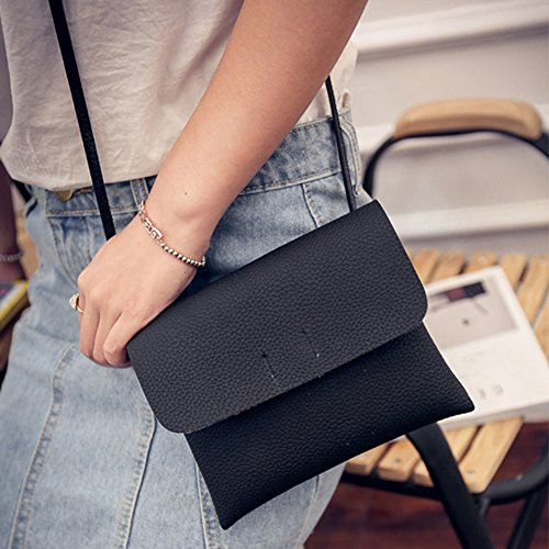 Main à Bandoulière Bag Femme en Cabina Sac à Dames Sac La Noir Messenger Cuir Simple Petit ISw0WqxT8