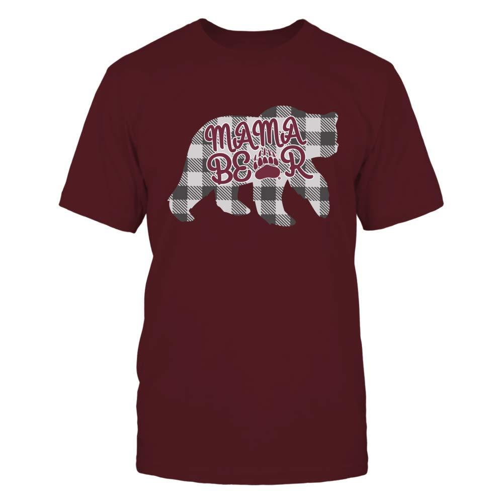 Checkered Patterned FanPrint Montana Grizzlies T-Shirt Mama Bear