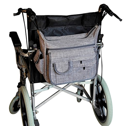 Large Wheelchair Back Bag With Secure Zip Closure by Adept Age