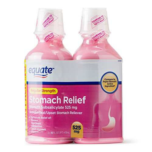 Equate - Stomach Relief, Regular Strength Pink Liquid ( 2 X 525 mg ) 32 fl oz (Compare to Pepto-Bismol)