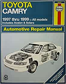 toyota camry automotive repair manual models covered all toyota camry ava. Black Bedroom Furniture Sets. Home Design Ideas