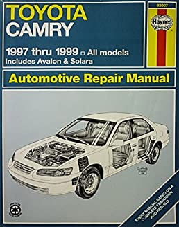 toyota camry automotive repair manual models covered all toyota rh amazon com 1999 toyota camry repair manual 1999 toyota camry repair manual
