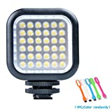 Godox LED 36 Dimmable Ultra Bright Portable 260LUX CN36 Continuous On Camera Led Light Panel for Camera Camcorder Video+CONXTRUE USB LED