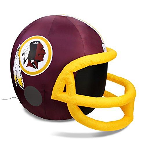NFL Washington Redskins Team Inflatable Lawn Helmet, Red, One ()