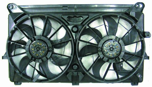 PACIFIC BEST INC. Dual Radiator and Condenser Fan Assembly For/Fit GM3115212 05-09 Chevrolet Silverado Avalanche Cadillac Escalade (Radiator Escalade Replacement Cadillac)