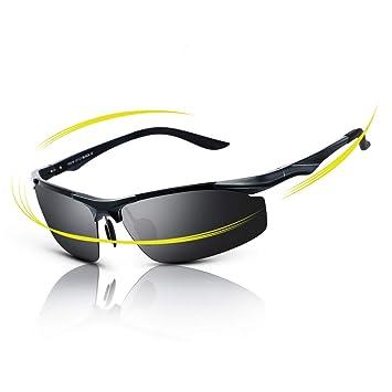 fawova Gafas de Sol Deportivas Hombre Polarizadas,Gafas Running Hombre con Aluminio Ultraligero, Gafas