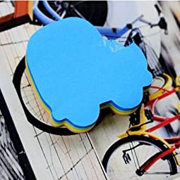 Creative Fluorescence Candy colors Multi-shape Scratch Pad Sticky notes Free stickers Notes Messages stickers blue car