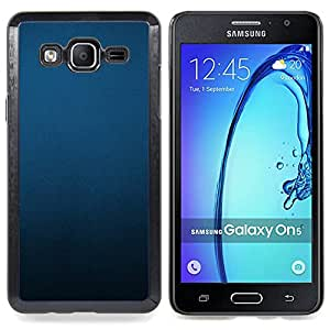 Stuss Case / Funda Carcasa protectora - Uniforme Minimalista Negro Pastel - Samsung Galaxy On5 O5