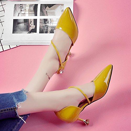 Eu35 Chic Un Fina Heeled SHOESHAOGE Zapatos De De Zapatos Punta Zapatos Con Solo Gato Sandalia La Mujer High Con EU34 zxqwqU7C