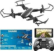 DRONE NEW SHARK CAMERA FULL HD FPV ES328, Multilaser, Preto