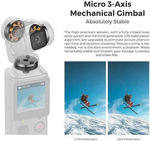 FIMI Palm Stabilizzatore cardanico a 3 assi tascabile con fotocamera intelligente 4K, obiettivo ultra grandangolare 128 °, 120g, microfono incorporato e microfono esterno supportati 5 spesavip