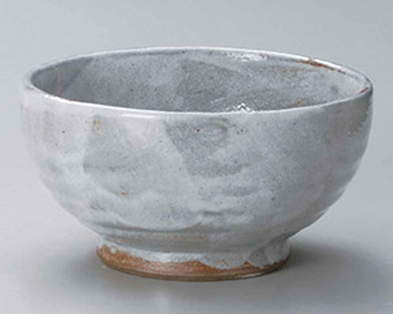 Akemurasaki 6.7inch Set of 10 Ramen-Bowls Grey Ceramic Made in Japan