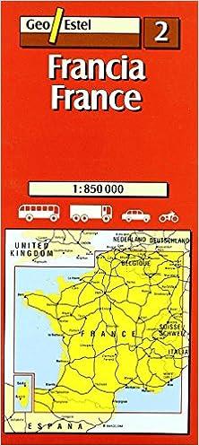Francia / France Mapas de carreteras. Comunidades autónomas y ...