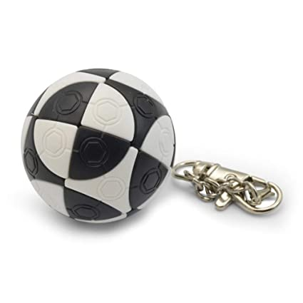 Alician Mini Football Shape Keychain Magic Cube Educational Toy Kids Stress Reliver Prop