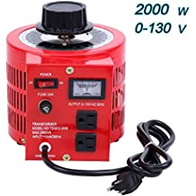 Yonntech Auto Transformer 2000W 20Amp AC Variable Voltage Regulator 2000VA 0-130V Output Autotransformer 110V