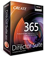 Cyberlink Director Suite 365 | 1 Year | 1 PC Subscription - Professional Video, Audio & Photo Editing