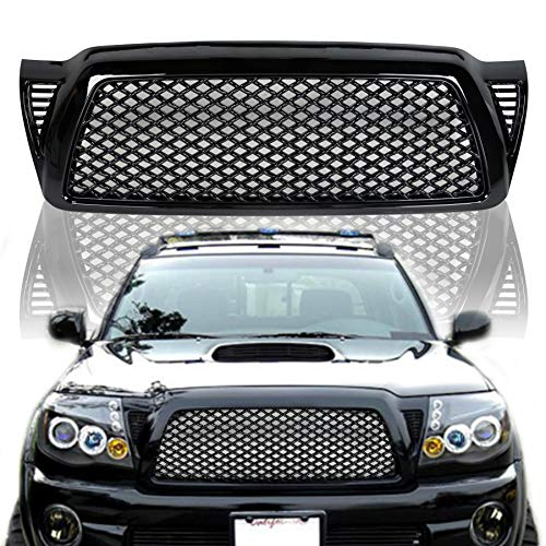 ECOTRIC Mesh Style Grill Front Bumper Hood Grille for Toyota Tacoma 2005-2011