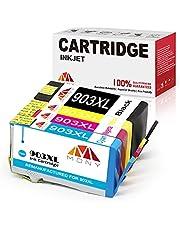 Mony Remanufactured HP 903 XL 903XL inktcartridges met nieuwste chip voor HP OfficeJet Pro 6950 6960 6970 All in One printer (1 zwart, 1 blauw, 1 magenta, 1 geel)