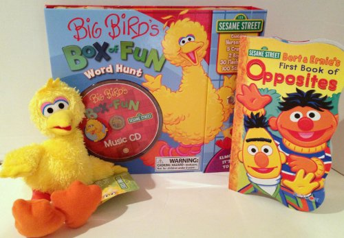 Sesame Street Gift Bundle: Big Bird's Box of Fun - Word Hunt, Doodle Pad, Nighty Night Book, & Plush Big Bird