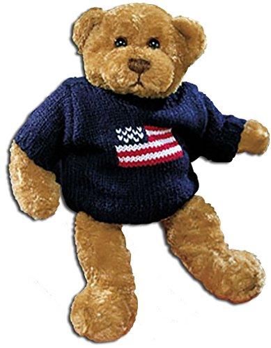 Gund Theodore Plush Teddy Bear in Navy Sweater with American (American Flag Teddy Bear)