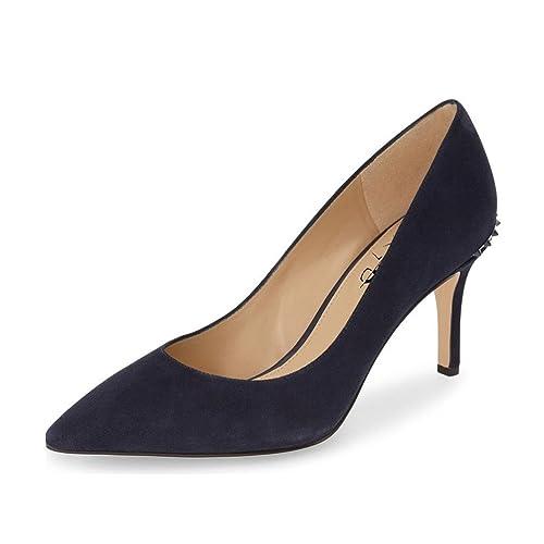 1226d0b6202 XYD Women Classic Studded Pumps Pointed Closed Toe Kitten Heels Rivets  Slide Dress Office Shoes