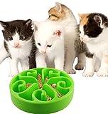 CEESC Dog Bowls for Cat Puppy Rabbit Small Animals Slow-Feeding Dog Feeder Bowl (Green)