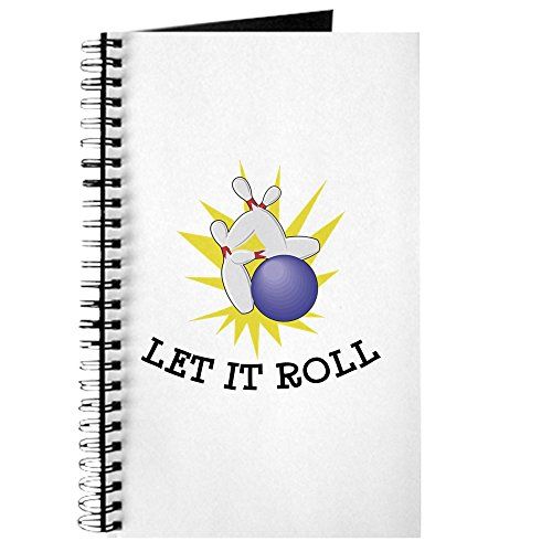 CafePress - Let It Roll Bowling - Spiral Bound Journal Notebook, Personal Diary, Dot Grid (Bowl Hoody Bound)