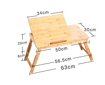 Mesa Plegable Mesa de Ordenador portátil Elevador Plegable Escritorio de Ordenador Cama de bambú con Cama Simple Mesas para Ordenador: Amazon.es: Hogar