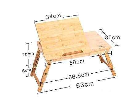 Mesa Plegable Mesa de Ordenador portátil Elevador Plegable Escritorio de Ordenador Cama de bambú con Cama