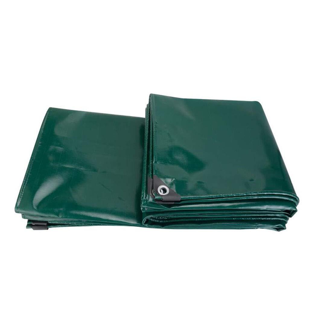 YX-Planen Grüne PVC-Plane strapazierfähiges, wasserdichtes Blatt Premium-Qualitätscover - 100% wasserdicht und UV-geschützt - Dicke 0,5 mm, 650 g m²